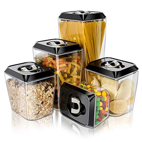 Masthome 5 Stück Vorratsdosen Luftdicht für Lebensmittel,Aufbewahrungsbox Küche BPA-freie Haltbarerer,Versiegelter Kunststoffbehälter