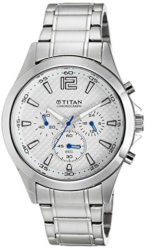 512tWcbHh9L - Titan NE9323SM07J Octane Chronograph Grey Mens watch