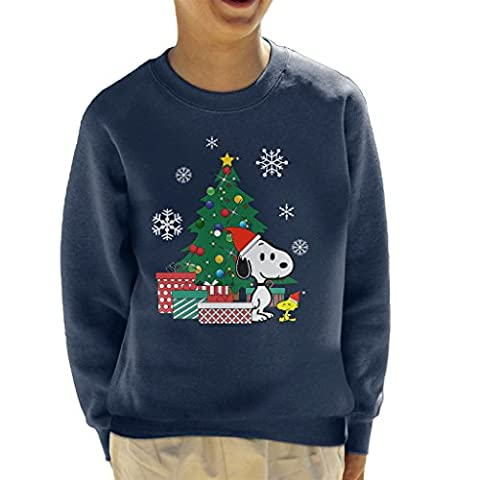 Snoopy And Woodstock Around The Christmas Tree Kid's Sweatshirt (Charlie Brown Weihnachts-tv-programm)