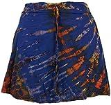 Guru-Shop Batik Hippie Minirock, Boho Sommerrock, Damen, Enzianblau, Synthetisch, Size:38, Kurze Röcke Alternative Bekleidung