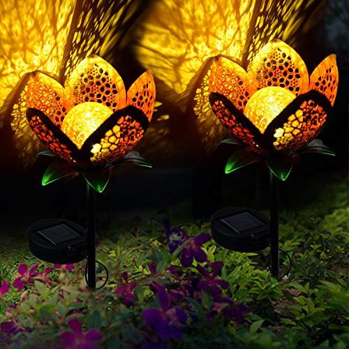 Jardin Chaud Piquet Craquelé En Skyoo Led Verre Pour Solaires Allée Lampes Fleur Globe PelousePatio Blanc Extérieur Métal LumièresÉtanche 0knPwO