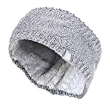 HEAT HOLDERS - Femme Tricot Large Polaire Chaud Hiver Cache Oreilles Bandeau (Headband) (One Size, Grey)