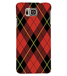 ColourCraft Red Check Pattern Back Case Cover for SAMSUNG GALAXY ALPHA G850