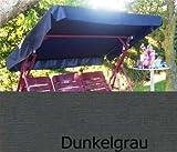 Sonnendach, Schaukeldach, Ersatzdach Hollywoodschaukel, nach Maß passt überall verschiedene Farben (mit umnähten Kanten) (dunkelgrau)