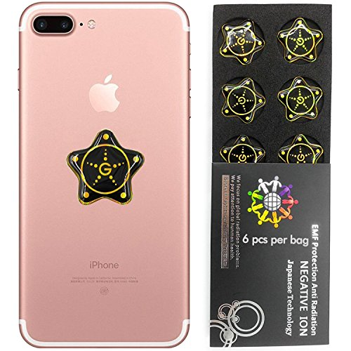 Anti Strahlung Protector Shield Aufkleber, EMR Schutz Blocker, EMF Neutralizer Patch Energy Saver skalare Ion für alle Handys, iPad iPod, MacBook, Computer, Laptop..., star gold, Gold -