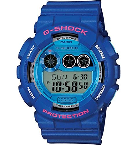 Casio G-Shock Digital Dial Blue Resin Mens Watch GD120TS-2CR