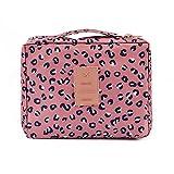 LULANDie neue Multifunktion wasserdicht Oxford Tuch, Reisen, Paket, Doppel-waschtisch Tasche Beautycase Make-up-Tasche, 21*8*18 cm, pink Leopard Print