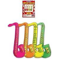 1x Fiesta De Disfraces Hinchable 75cm de color JAZZ Saxofón naranja
