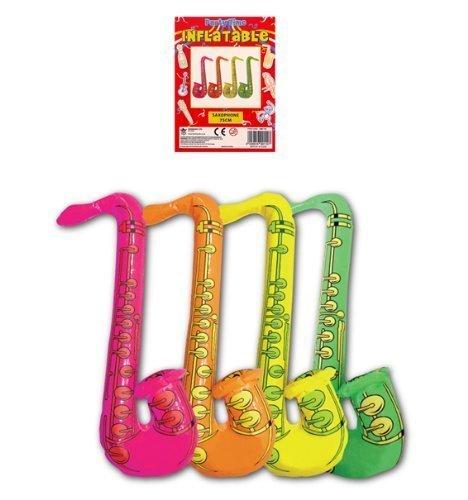 1 x Verkleidung Kostümparty Aufblasbar 75cm Bunt Jazz Saxophon - Bunte Jazz Kostüm