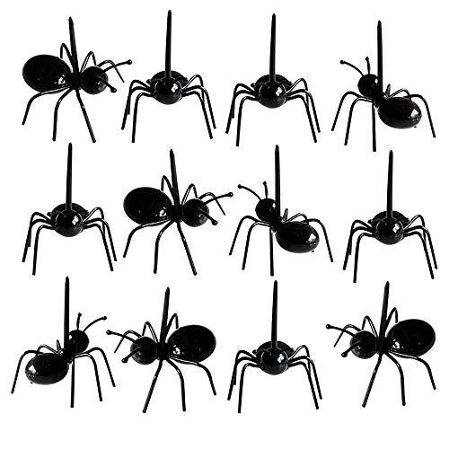 12 stücke Mini Ameisen Zahnstocher Fleißige Obst Gabeln Dessert Salat Gabeln Geschirr Mehrfachverwendung für Party (Kinder Halloween-desserts Für Einfache Spaß,)