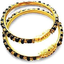 AkinosKIDS Gold Black Beads popularly known as Nazariya.(JW19BK)