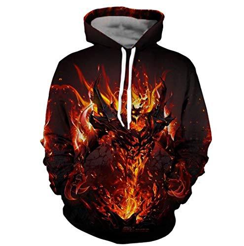 Flamme Beast Männer Mit Kapuze Hoodies Langarm männer Frühling Pullover 3D Sweatshirt Streetwear Cooles Design Hip Hop Hoody 5XL Photo Color 5XL