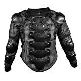 Motorrad-Schutzkleidung Rüstung Protektorenhemd Jacke Armour Motorrad Jacket Brustpanzer für Off Road Racing Motorcross Fit For Harley Davidson Softail Springer (S für 45-50kg, Schwarz)