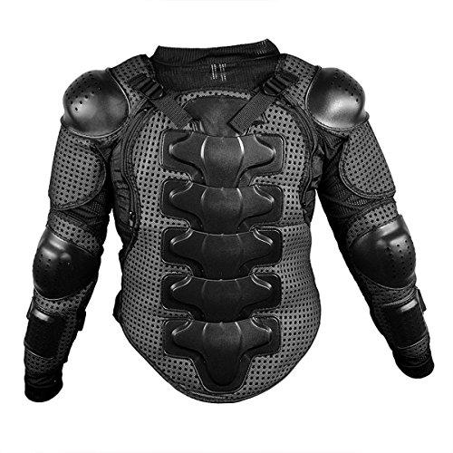 Motorrad-Schutzkleidung Rüstung Protektorenhemd Jacke Armour Motorrad Jacket Brustpanzer für Off Road Racing Motorcross Fit For Harley Davidson Softail Springer (S für 45-50kg, Schwarz)
