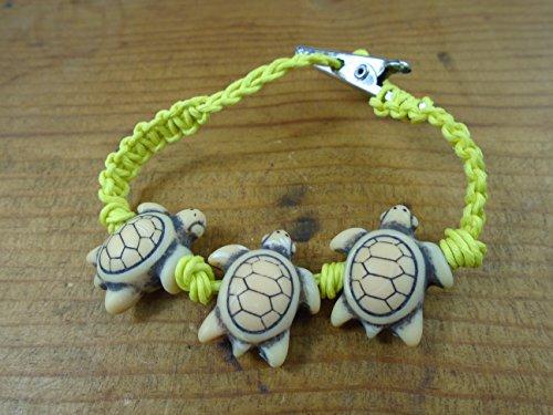Gelb Schildkröte Hanf Armband Fußkettchen Choker oder Halskette -