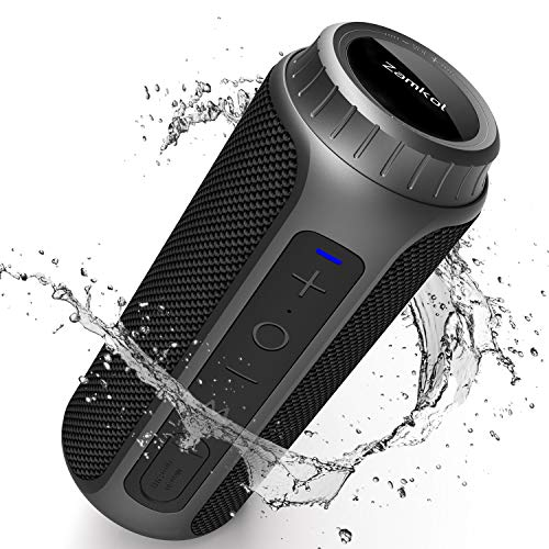 Enceinte Bluetooth Portable, Zamkol Bluetooth 5.0 Enceinte...