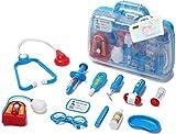 Doctor Kit Medical Case Nurse Toys Doctors Toy Set Medical Doctor Set Kids Doctors Set Nurse Kit Doctor Playset for Boys Girls (Blue)