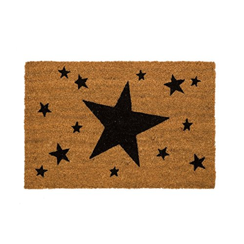 D,casa - Felpudo original estrellas negro 40x60 cm