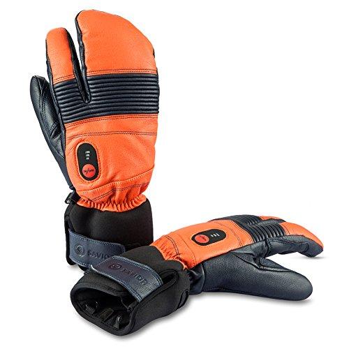 SAVIOR beheizte Handschuhe mit wiederaufladbare Lithium-Ionen-Batterie Beheizt für Männer und Frauen, arbeitet bis zu 2,5-6 Stunden (XXXL, Orange)