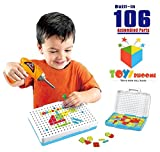 #2: Toys Bhoomi Design & Play Puzzles 106 Piece Interactive Construction Games & Building Blocks for Kids Toys with Power Drill