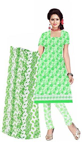 Justkartit Women's Stylish Cotton Printed Unstitched Salwar Kameez Suits Dresses 2018