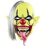 TTXLY Sombrero de Cara Verde de Horror Máscara de Payaso Sombrero de máscara de látex de Navidad de Halloween, Fiesta de Halloween/Baile/Bar/Fiesta/Cosplay