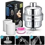 12 Stufen Duschfilter Shower Filter, Koooper Universal Wasserfilter mit 2 Bonus-Austauschbaren Filtern für Jeden Duschkopf und Handdusche, Entfernen Chlor,Schwermetalle,Wasser erweichen
