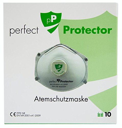 10x Atemschutzmaske FFP2 | 'Perfekter Schutz' ihrer Gesundheit | Staubschutzmaske, Feinstaubmaske | Offiziel 'zertifiziert' | geeignet für den privaten wie gewerblichen Gebrauch