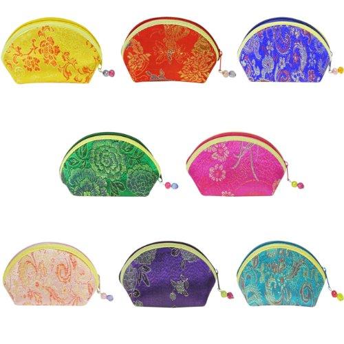 Chinesische Gestickte Tasche (wrapables Seide bestickt Brokat Geschenk jewelry Münzfach Geldbörse, Set von 8)
