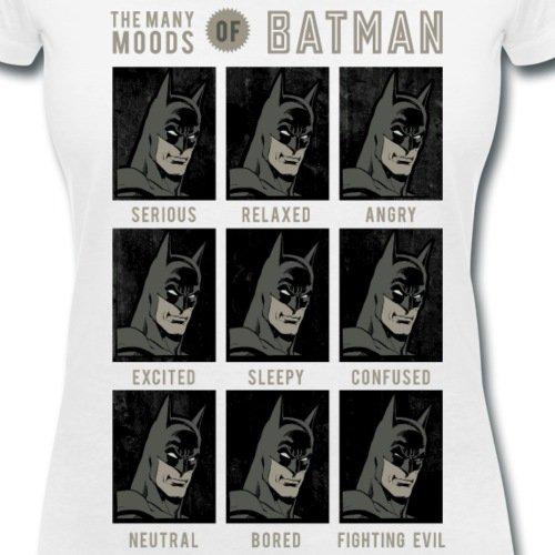 DC Comics Originals Portraits De Batman T-shirt col V Femme de Spreadshirt® Blanc
