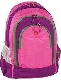 Preisvergleich für Take It Easy Light Nylon Schulrucksack BERLIN pink/grün 488216 pink/grün