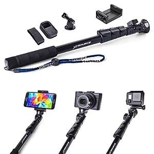 Extendable Selfie Stick Monopod Handheld Monopod Extendable Selfie Stick Wifi Remote Case for Camera iPhone 5S 6 GoPro Hero 2 3 3+ DC558