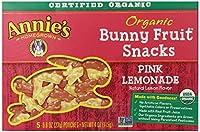 Annie'S - Organic Bunny Fruit Snacks Pink Lemonade 5 Packet(S) 112958