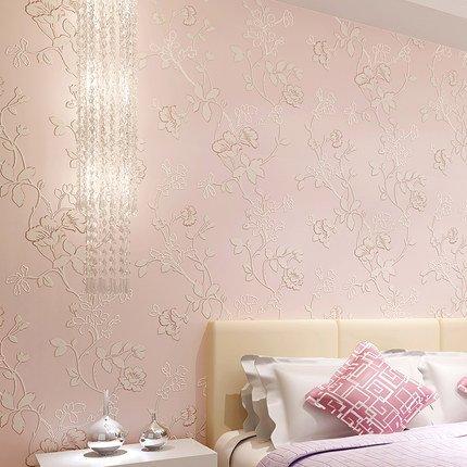 BTJC 3D dreidimensionale Vliestapete Schlafzimmer Wohnzimmer TV Kulisse Tapete moderne Video tapete warm pastoral , C