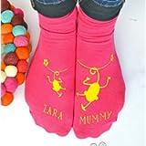 Personalised Cheeky Monkey Mummy Socks