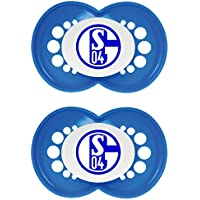 MAM 66187701 - MAM Schnuller, Bundesliga, Football: FC Schalke 04, Silikon, Doppelpack