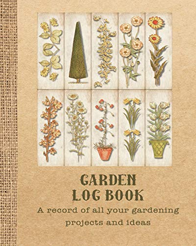 Garden log book: The perfect prompt journal for recording all your gardening activities, projects and ideas - Series of garden sketches print - Kids Garden Hoe