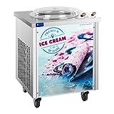Royal Catering Roll-Eismaschine Ice Cream Maker RCFI-1O60 (runde Platte Ø 45 x 2 cm, 1.200 W, Temperaturbereich: -35 ÷ 5 °C, Panasonic-Kompressor, effizientes Kältemittel R410a)