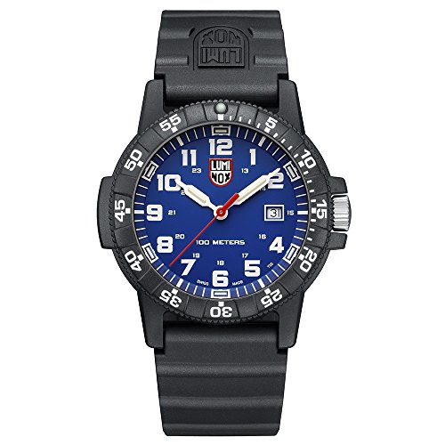 Luminox Leatherback Sea Turtle Giant 0320 series Watch with carbon compound Case Blue|White Dial and PU Black Strap XS.0323