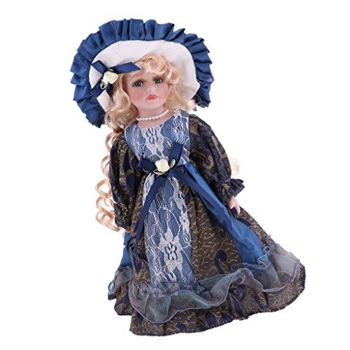 CUTICATE 12 Zoll Elegantes Porzellan Viktorianischen Puppe Stehende Keramik Frau Dame Puppe Dekoration Kinder Kinder Erwachsene Geschenk (Porzellan-puppe Kleider Für Erwachsene)