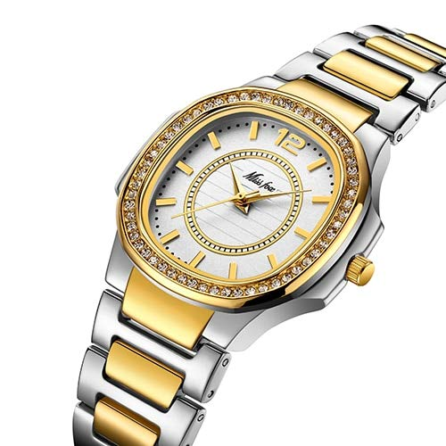 PLKNVT Neue hochwertigeMode armbanduhren für Frauen Edelstahl GoldweiblicheUhr Diamant Armbanduhr patek Armbanduhr 2549-2