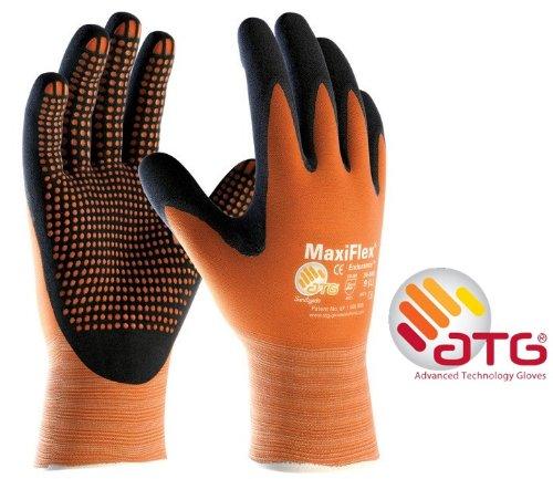 MaxiFlex Endurance 34-848Nitril Schaumstoff Micro Dot Palm Arbeitshandschuhe, Größe 9/L Palm Dot