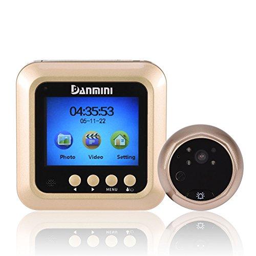 Richer-R Digitaler Türspion, Smart Digital Bewegungserkennung Nachtsicht 2.4 Zoll HD LCD Display Türviewer,HD Video 160° Weitwinkel Überwachungskamera mit FIFO-Funktion für Türstärke 40-110mm