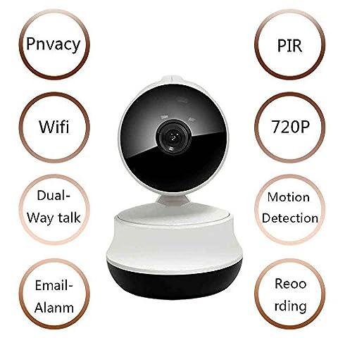 Caméra de Sécurité 720p Sans Fil,Caméra IP Extérieur,Surveillance vidéo,Système de