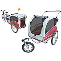 PAPILIOSHOP ARGO Remolque y carrito cochecito para el transporte de perro perros mascota por bici bicicleta