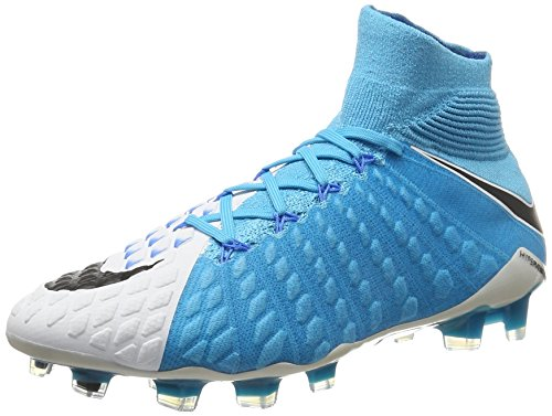 Nike Herren 860643-104 | Hypervenom Phantom III FG Fußballschuhe, Weiß (White/Blue), 44 EU