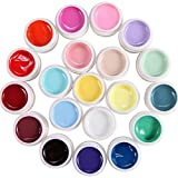 Lot de 20 couleur Gel uv gamme milkshake pr ongles faux tip manucure