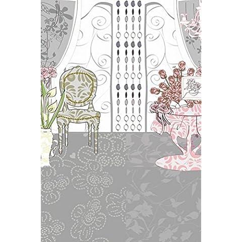Dibujos animados Rosa Roja Silla Fotografía Fondo de fotos de fondo Hermosa flor de vinilo 98,4 IN (W) * 59 IN (H) 1,5 * 2,1 millones