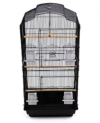 Easipet Large Metal Bird Cage for Budgie, Cockatiel, Lovebirds etc (Black) 4