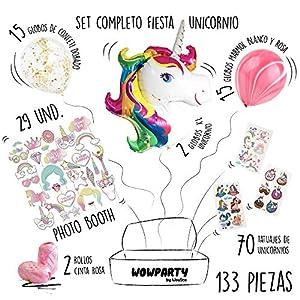 Wowparty Decoración Cumpleaños Unicornio, 133
